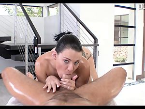 giving Peta Jensen a lubricated man-meat down her greasy cooter