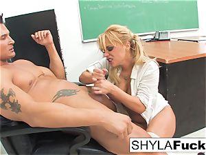 student Shyla Gets plowed