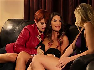 August Ames and Lily Cade cable on sofa hookup