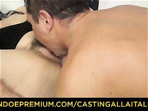 casting ALLA ITALIANA dark haired nymphomaniac tough ass fucking romp