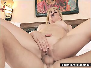 FamilyHookups - super-steamy ash-blonde Stepmom humps Her Stepson