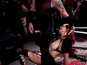molten slaves deep throating and hump pummeling