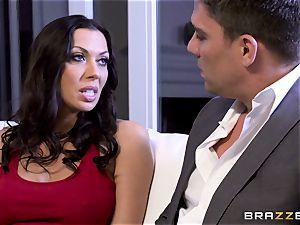 Rachel Starr tearing up her husbands molten suited chief
