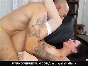 audition ALLA ITALIANA - newbie anal gape and poke