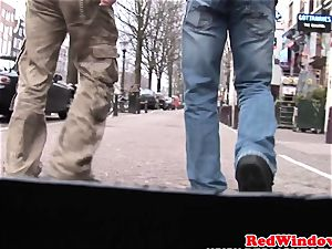Dutch prostitute doggystyled until cumsprayed