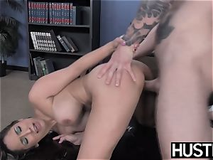 promiscuous cheerleader Leya Falcon demolished by IR anal