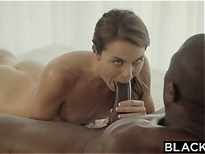 very first interracial for insatiable Ally Tate