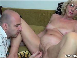 Lusty Mature mega-slut drilled by a wild man