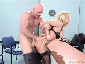 marvelous office stunner Alix Lynx takes a second helping