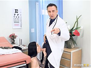 Marley Brinx gets her pussy deeply explored at the doctors
