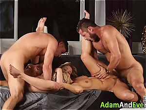 erotic couple and jism swap with hot blondes