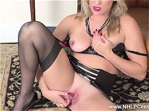 blondie finger drills humid slit in girdle antique nylons