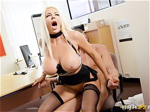 Nicolette Shea gets her concentration probed in this torrid interview
