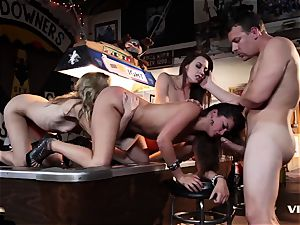 Allie Haze And mates heads naughty And nasty