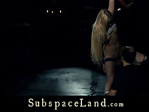 marionette chick blondie pleasured and disciplined in subordination