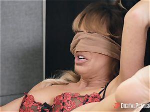 mummy Cherie Deville gets her fuckbox eaten in her office by Gianna Dior