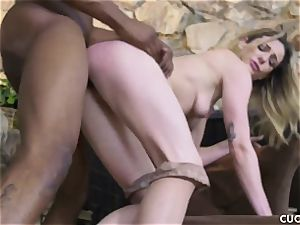 black boy porks his boss slutty wife Dahlia Sky