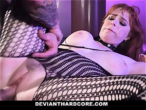 DeviantHardcore - super-hot red-haired Gets facehole screwed