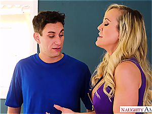 Brandi love plows the delivery guy