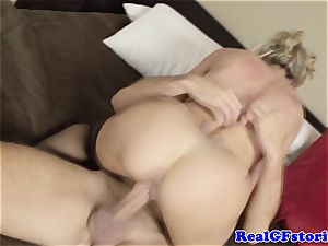 steaming blond housewife milf porked