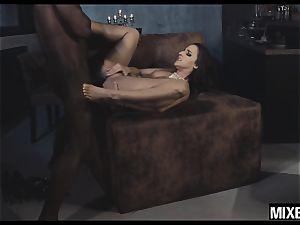 super hot Amirah Adara gets her caboose stretched by monster pink cigar
