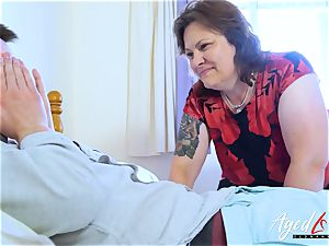 AgedLovE buxom Mature frolicking rock-hard with handy dude