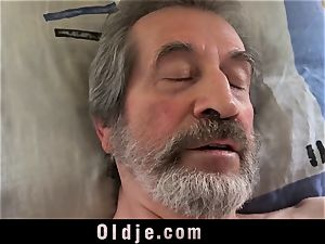 nubile nurse doll Dee drill approach for sick older patient