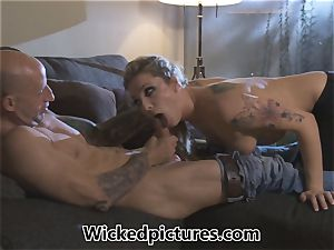Rampant role have fun for Bailey Blue and a steamy fellow