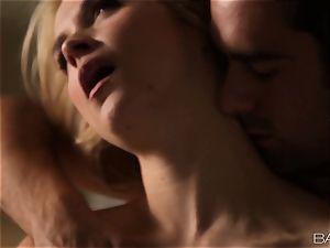 Sarah Vandella lays back and loves her mans man rod
