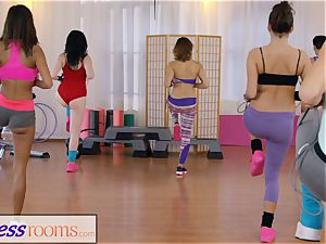 sport rooms gym damsels have girly-girl 3 way