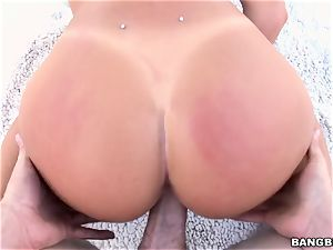 August Ames taking a ginormous pink cigar in her muddy honeypot