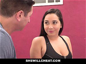 SheWillCheat hotwife gf Karlee Grey screws Trainer
