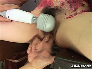 japanese slut likes to be domination & submission treated to a paraffin wax demonstrate