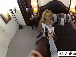 huge-titted sex industry star Sarah drills