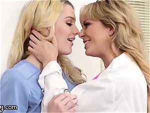 mummy Dr. Cherie DeVille sapphic scissoring blond teenage