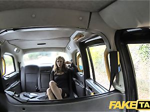 faux taxi Posh damsels engorged cooter and booty pounded