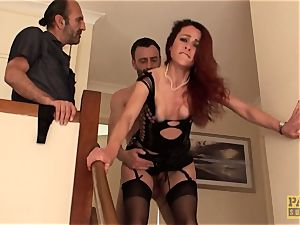 English wife slut butt-banged to pay off debt