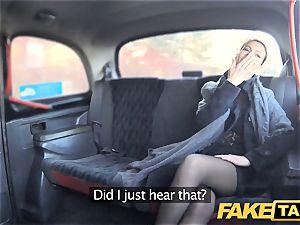 fake cab Czech woman hungers a rock hard spunk-pump