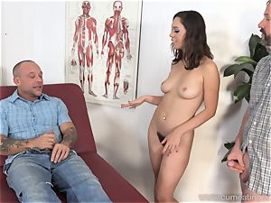 Jade Nile Has Her hubby suck rod and see Her
