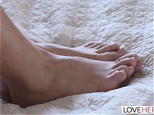 LoveHerFeet - Khloe Kapri ejaculations And pumps out hard