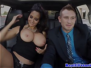 Getting deepthroated by Ava