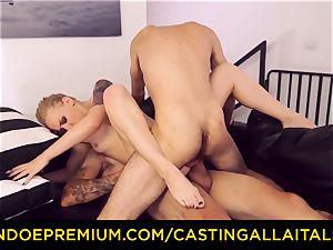 CASTNG ALLA ITALIANA - blondie vixen raunchy double penetration fuck-fest