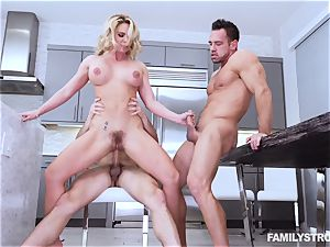 Phoenix Marie gets a sizzling 3some at the dinner table