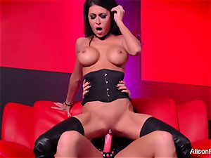 Alison Tyler pummels Jessica Jaymes with a strap-on
