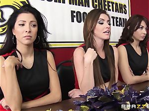 Mean cheerleaders group smash August Ames