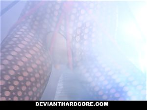 DeviantHardcore - obedient nubile Gags On immense prick